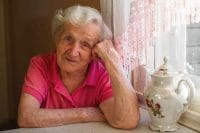 elderly woman at home