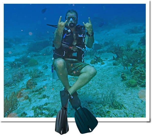 Vic Joshi scuba diving