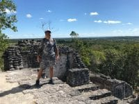 Vic in Mayan jungle