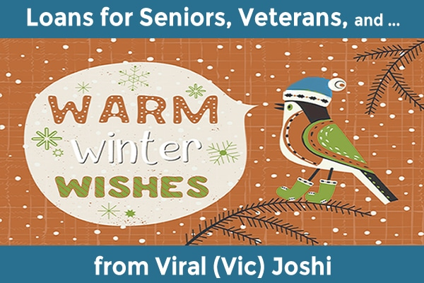 Loans for seniors and veterans with holiday wishes